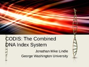 CODIS PowerPoint Mike Lindle