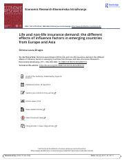 Life and non life insurance demand the different effects of influence factors in emerging countries