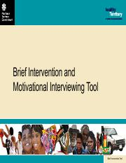 Brief Intervention and MI Tool