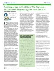 Anthro in the Clinic- Cult Competency JLoS Med 2006