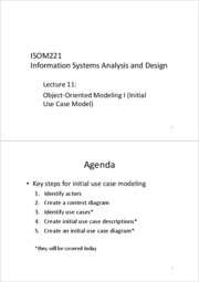 ISOM221+Lecture+11+-+Object-Oriented+Modeling+I+_Initial+Use+Case+Model_