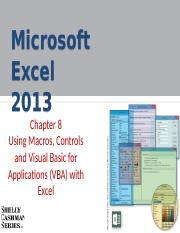 Ch08-Using Macros-Controls and Visual Basic for Applications - VBA - with Excel