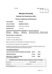 MU - S1 2004 - Business Finance