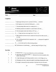 Unit 45 Worksheets
