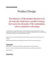 Product and Process Design.docx