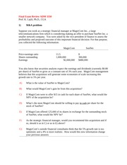 corporate finance adm3350 assignment 1 fall