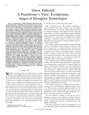 evolutionary stages of disruptive technologies