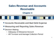 Session_4_Accounts Receivable_Handout_Spring 2012