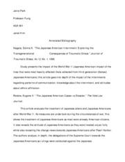 asa annotated bibliography
