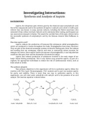 Aspirin Synthesis and Analysis LH (1)