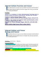 Nurs 5315-(Notes)Altered Cellular and Tissue Biology and Cancer.docx