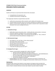 COMM 3332 Risk Communication Research Paper Guidelines