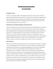 HUMANITARIAN INTERVENTION IN AFRICA.docx