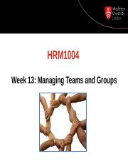 Managing Groups and Teams slides