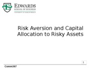 6 Risk Aversion and Capital Allocation to Risky Assets
