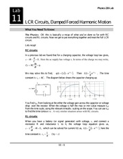 Lab 12- LCR Circuits