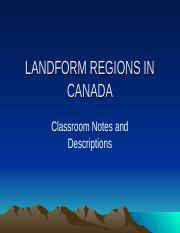 LANDFORM REGIONS IN CANADA  PPP.ppt