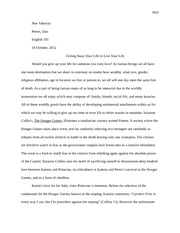 hunger games essay assignment juline deppen dr fisk english  5 pages final draft hunger games