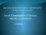 SH M3 - PPT Social construction of health