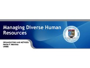 Managing Diverse Human Resources Chapter 7