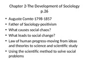 Chapter 2-The Developmt of enSociology