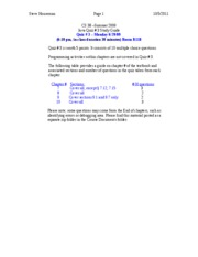 CS 38-Summer 2009-Quiz 3 Study Guide