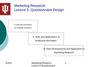 5 Questionnaire Design