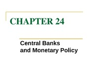 chapter 24 central bank and monetary policy