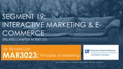 MAR3023 Interactive Marketing and E-commerce