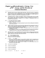 Chapter 20 thermodynamics