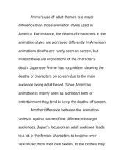Essay on Animation Styles