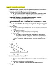 Health Care Econ Study Guide Chapter 9