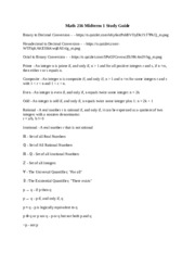 Math 216 Midterm 1 Study Guide