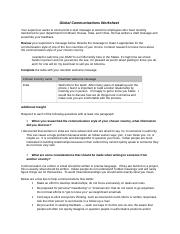 Global Communication Worksheet-1.doc