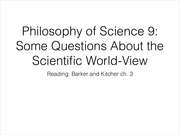 Philosophy of Science 9