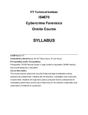 IS4670_15_Syllabus