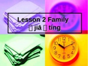 Lesson 2 Family
