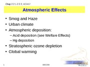Atmospheric Effects