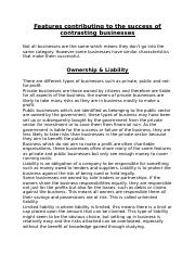 Features contributing to the success of contrasting businesses-2.docx