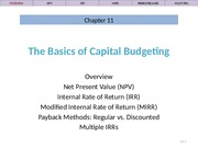 Ch 11 Lecture Slides, Capital Budgeting