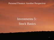 16 Investments 5 - Stock Basics 2012-02-29