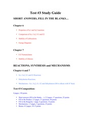Test #3 study guide Fall 2014