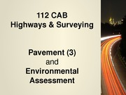 Highways Engineering - Pavement Maintenance and envl