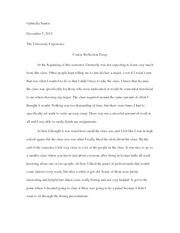 Course Reflection Essay