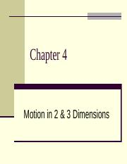4-Motion-in-Two-Three-Dimensions