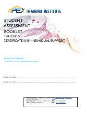 SAB CHCCCS015 Provide individualised support (1).docx