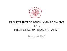 03 PROJECT INTEGRATION and SCOPE MANAGEMENT.pdf