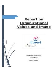 Report on Organizational Values and Image Final.docx