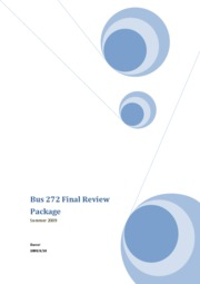 Bus 272 Final Review