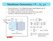Membrane Osmometry notes